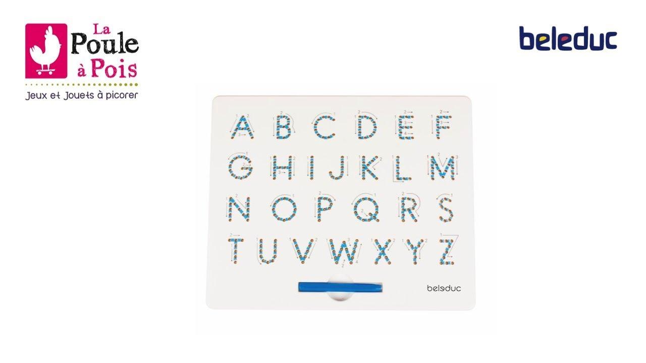 Tableau Magnétique Pour Apprendre L'Alphabet - Beleduc - Lapouleapois.fr encequiconcerne Jeux Pour Apprendre L Alphabet