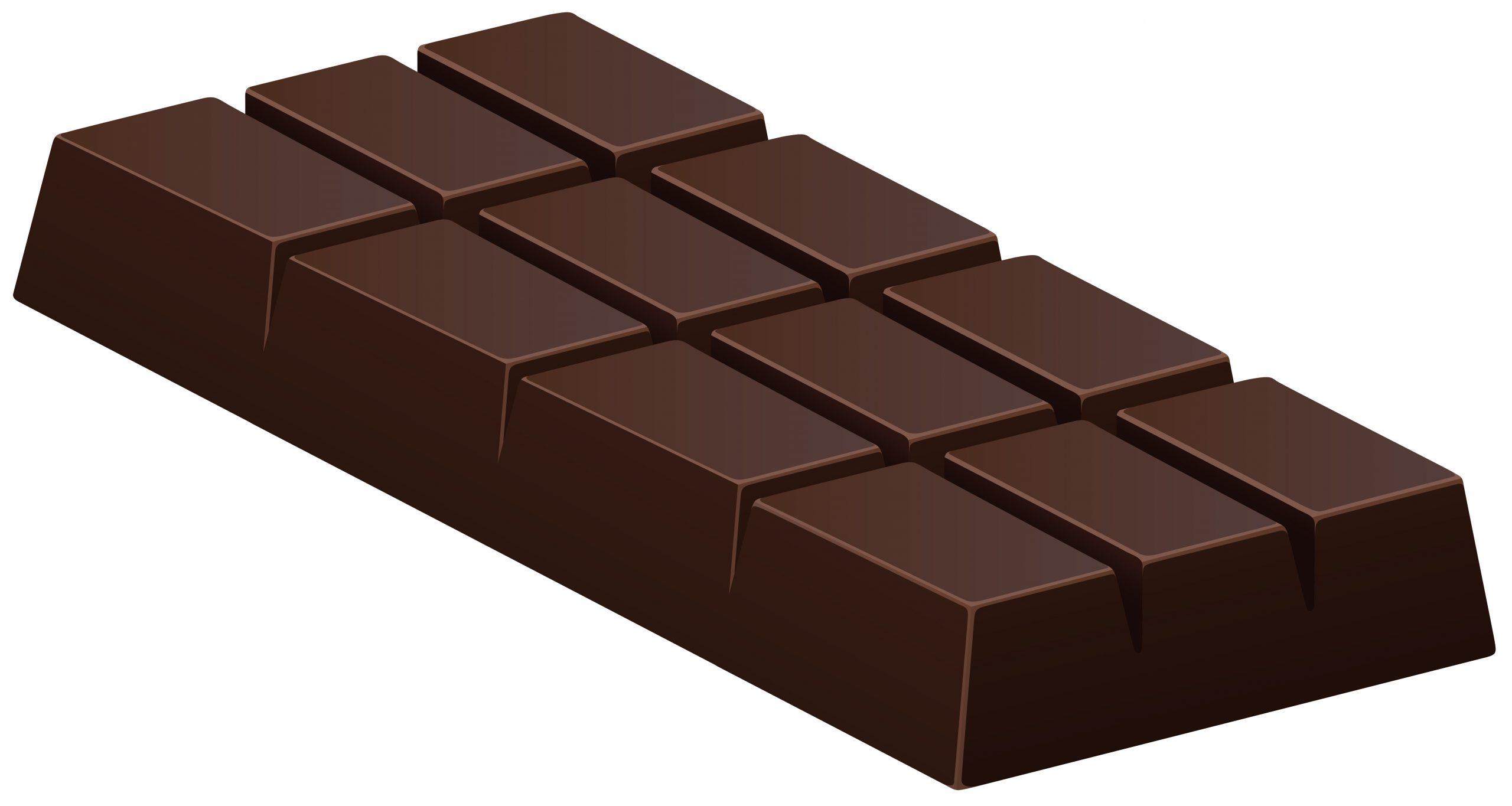 Tablette De Chocolat Noir Sur Blanc - Telecharger Vectoriel pour Tablette Chocolat Dessin