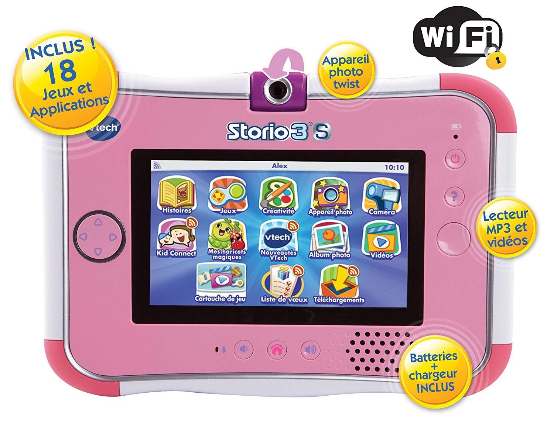 Tablette Tactile Storio 3S Wifi Rose + Power Pack intérieur Tablette Enfant Fille