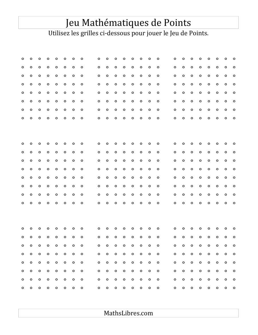 Tablier De Jeu Pour Jouer Le Jeu Mathématique De Points Hors tout Jeux De Matematique