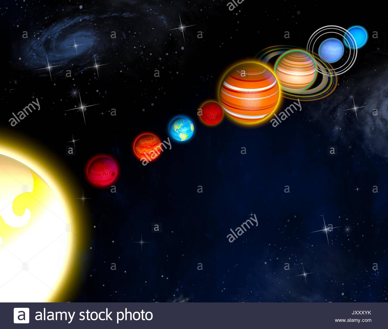 Tailles De Diamètre Planètes Du Système Solaire Et Des tout Dessin Du Système Solaire