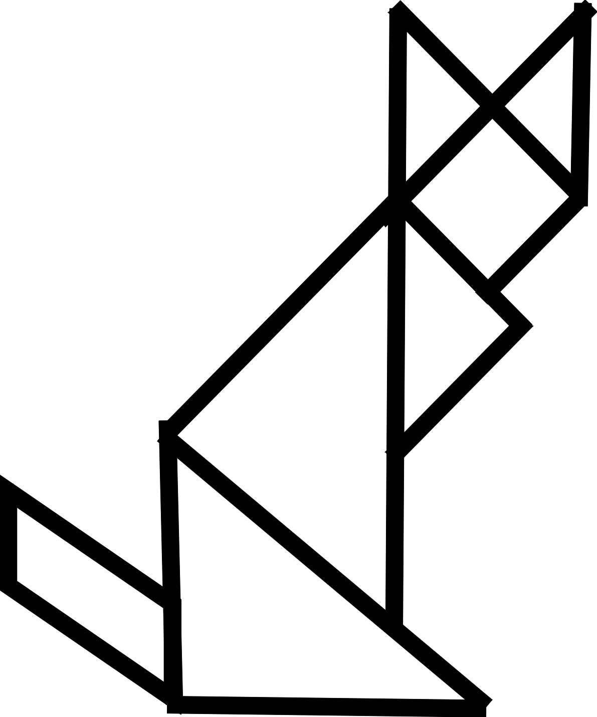 Tamgram Puzzles | Animaux Foret, Minou serapportantà Tangram Chat