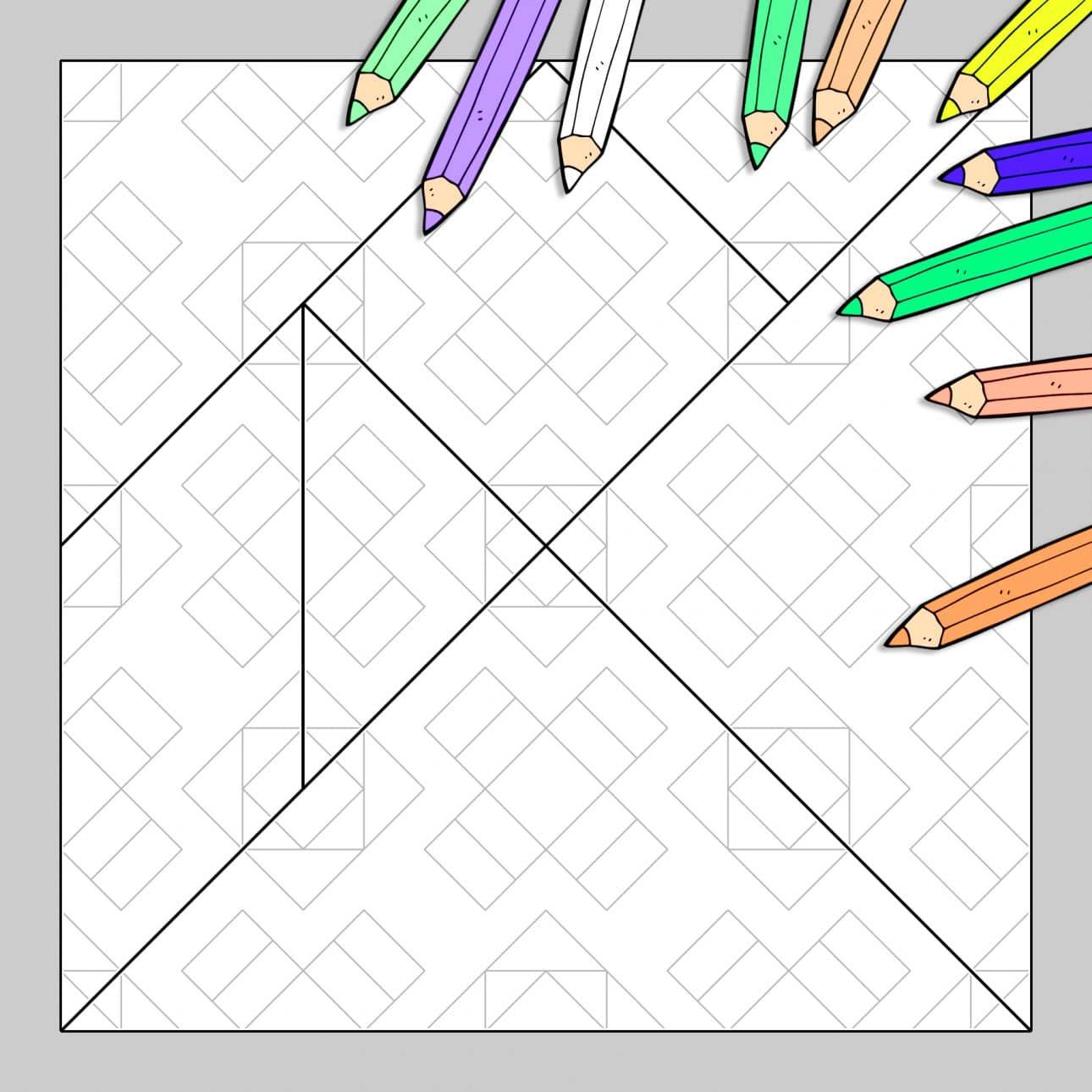 Tangram À Colorier N°28 tout Tangram À Découper