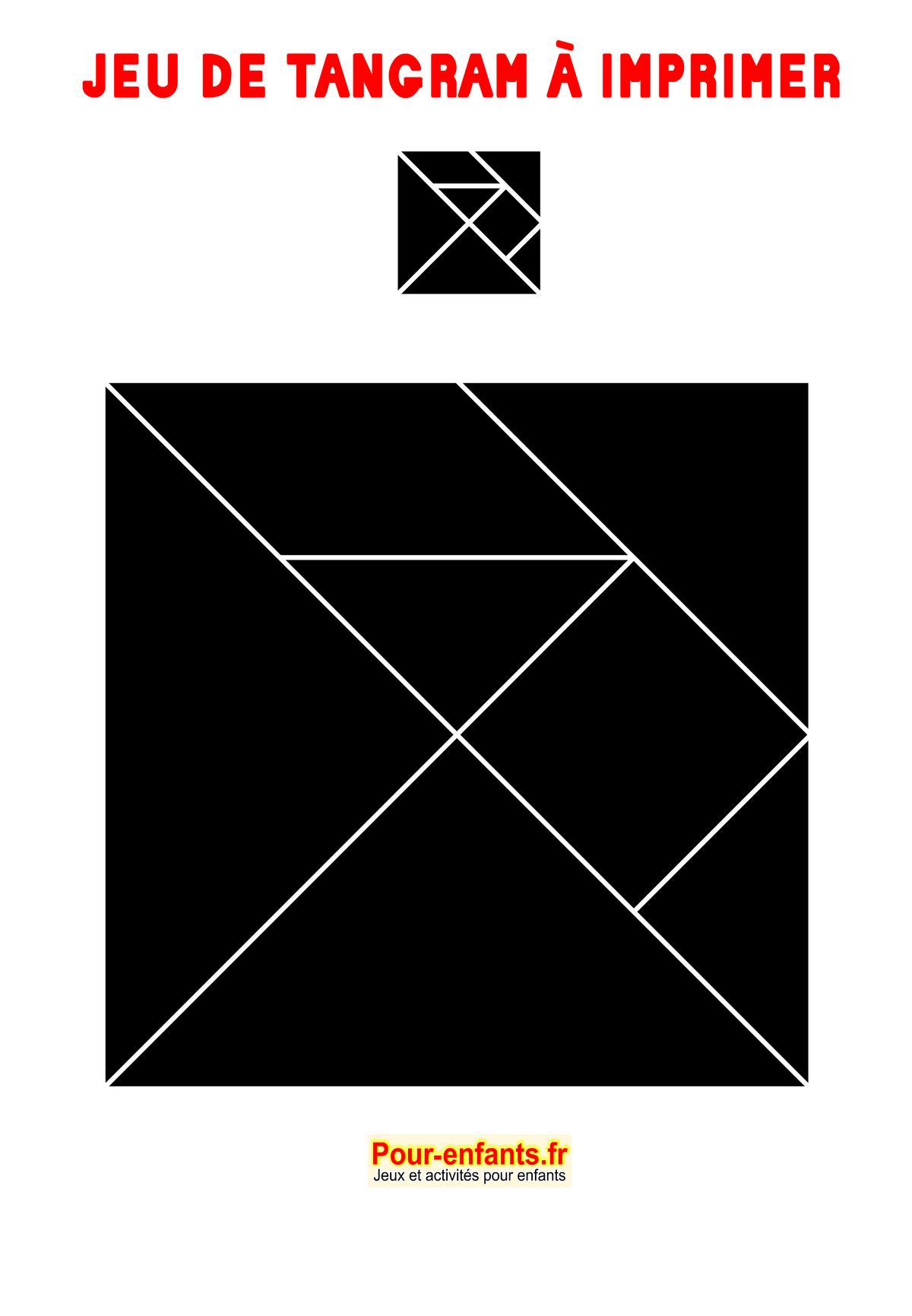 Tangram À Imprimer Maternelle Gratuit Jeux Ms Ps Gs Cp encequiconcerne Tangram Modèles Et Solutions
