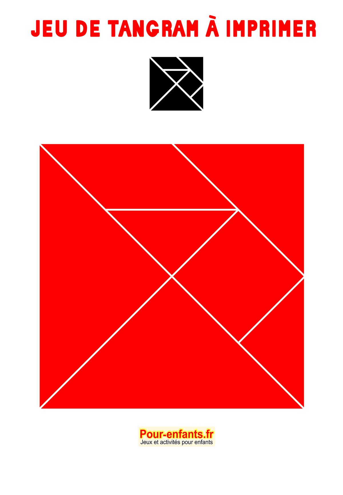 Tangram À Imprimer Maternelle Gratuit Jeux Tangrams destiné Jeu De Tangram À Imprimer