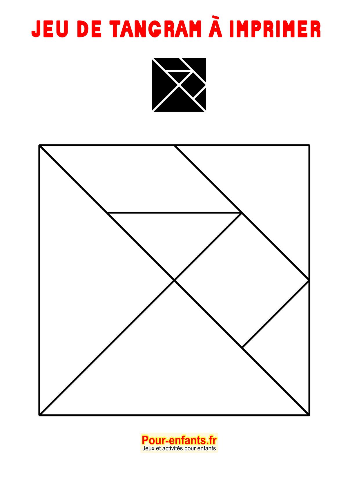 Tangram À Imprimer Maternelle Gratuit Jeux Tangrams tout Tangram Moyenne Section