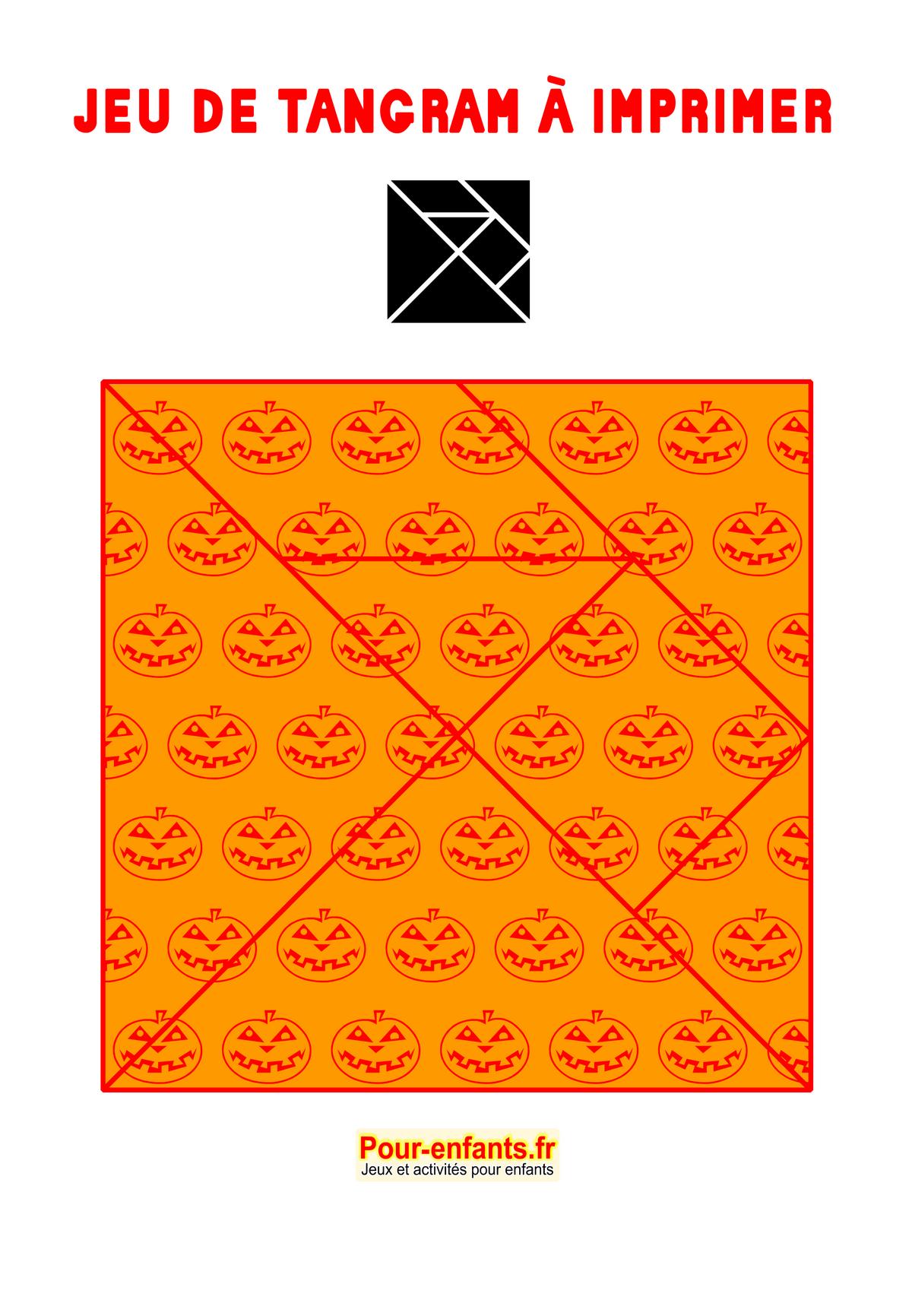 Tangram À Imprimer Maternelle Halloween Gratuit Jeux Ms Ps encequiconcerne Tangram Moyenne Section