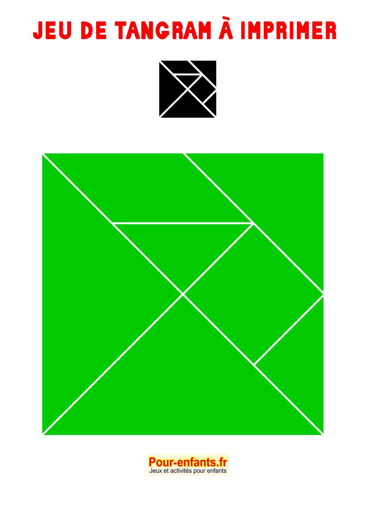 Tangram À Imprimer Maternelle Ps Ms Gs Cp Gratuit Tangrams avec Tangram A Imprimer