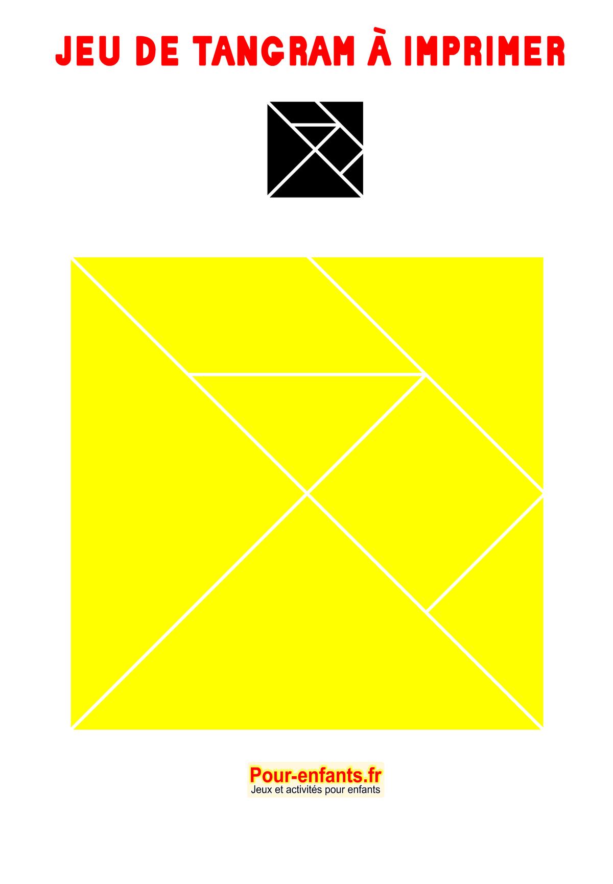 Tangram À Imprimer Maternelle Ps Ms Gs Cp Gratuit Tangrams intérieur Jeux Educatif Ce1 A Imprimer