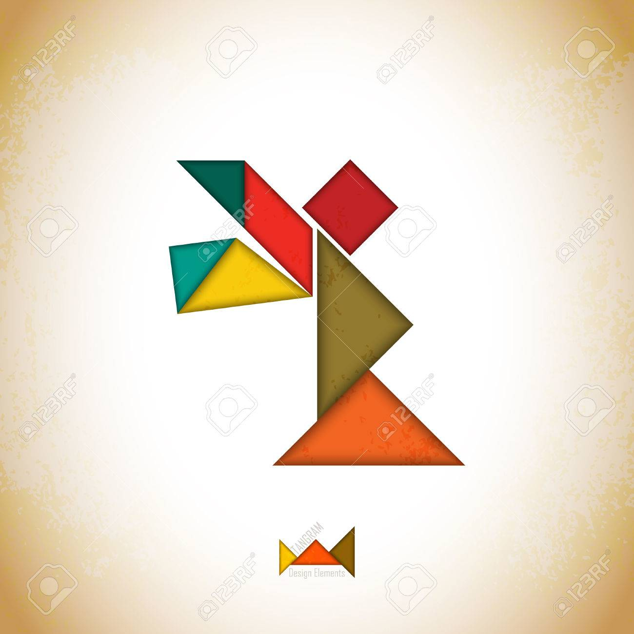 Tangram Angel. Angel Made Of Tangram Pieces, Geometric Shapes. Traditional  Chinese Puzzle Tangram Solution Card, Learning Game For Kids, Children. à Pièces Tangram