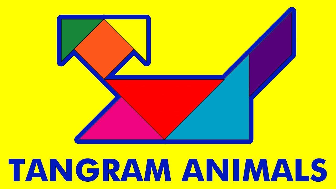 Tangram Animal Puzzles For Kids à Tangram Simple