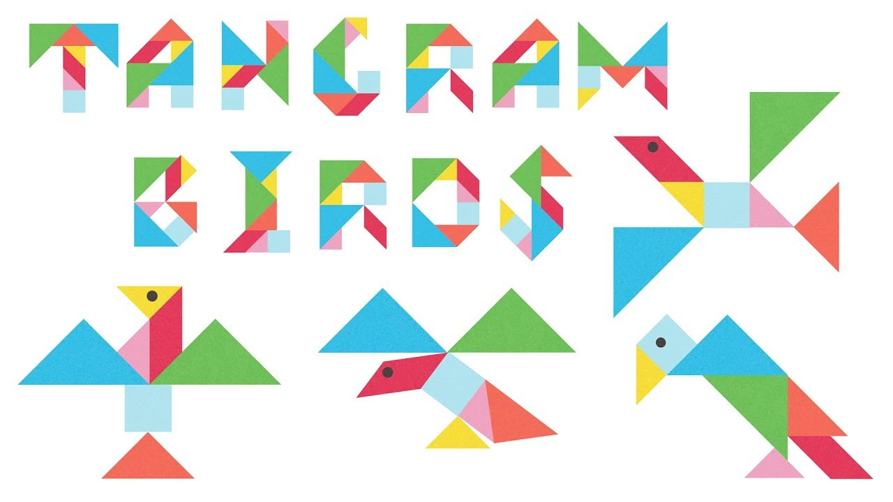 Tangram Birds Puzzle For Kids - 18 Birds Made From Tangram Puzzle Pieces encequiconcerne Tangram Simple