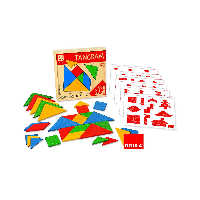 Tangram (Boîte De 4 Jeux) destiné Tangram Enfant
