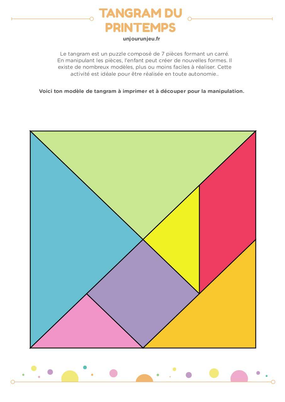 Tangram Bontemplate Cerveau - Tangram-Printemps Pdf destiné Tangram A Imprimer