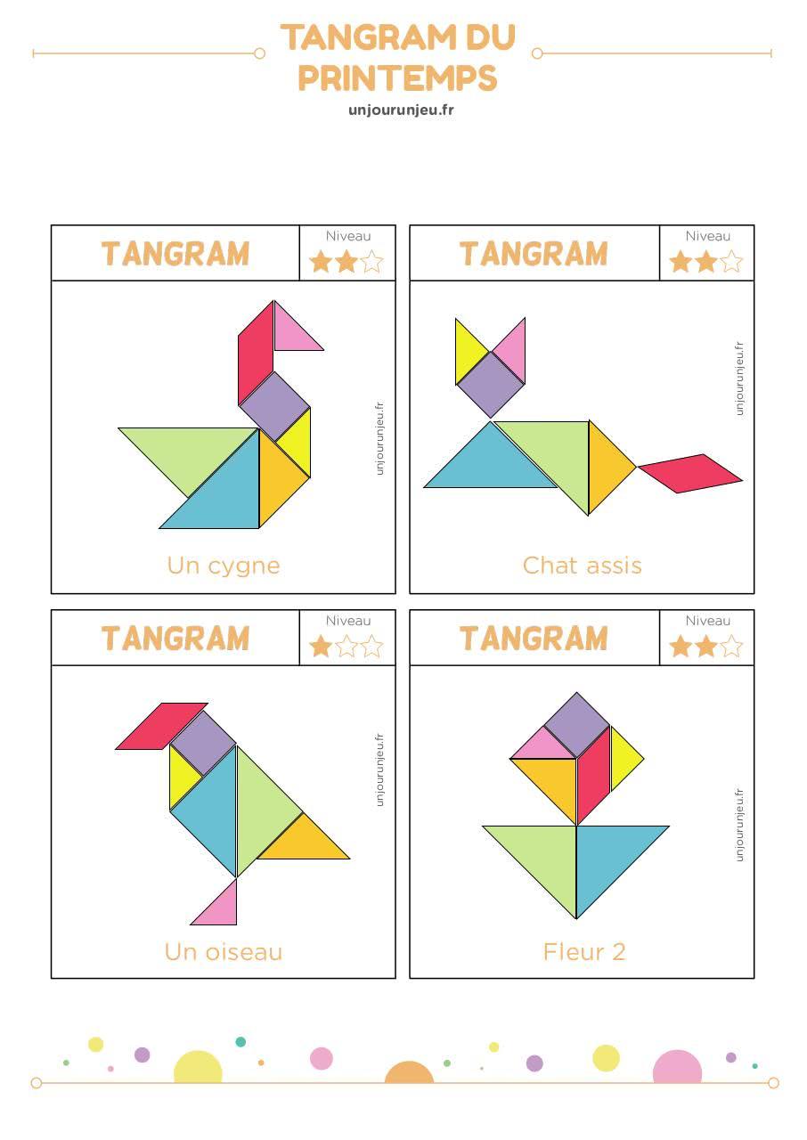 Tangram Bontemplate Cerveau - Tangram-Printemps Pdf encequiconcerne Tangram À Imprimer Pdf