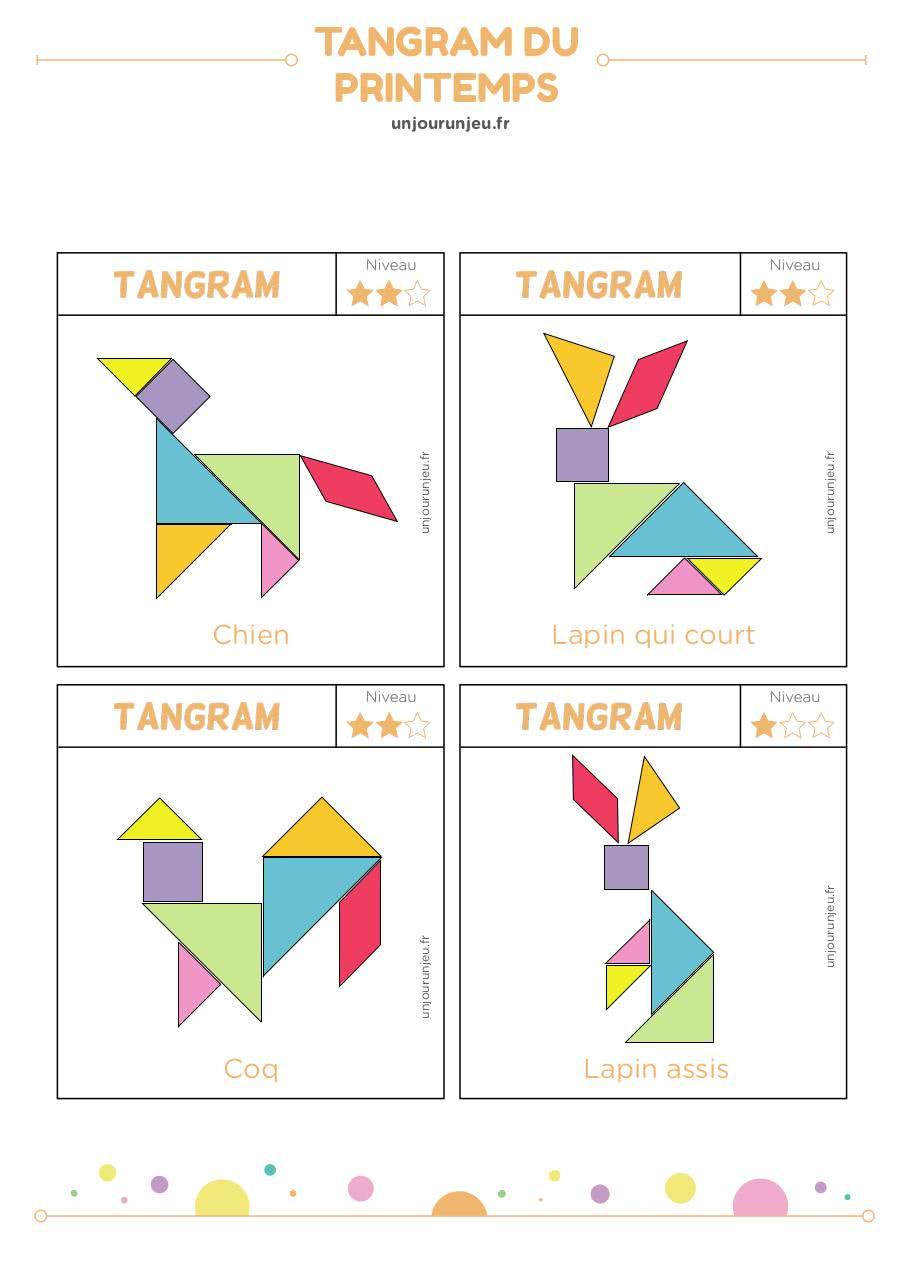 Tangram Bontemplate Cerveau - Tangram-Printemps Pdf tout Tangram Lapin