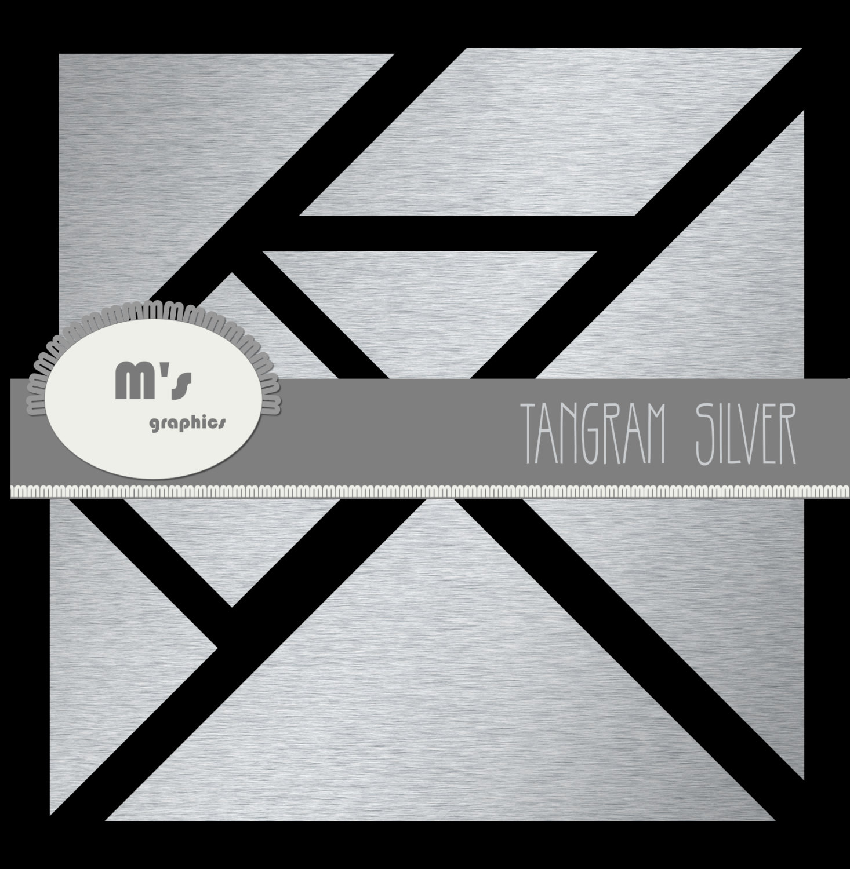 Tangram Clip Art Puzzle Silver 7 Geometric Pieces Diy, Construct Your Own  Drawing à Pièces Tangram