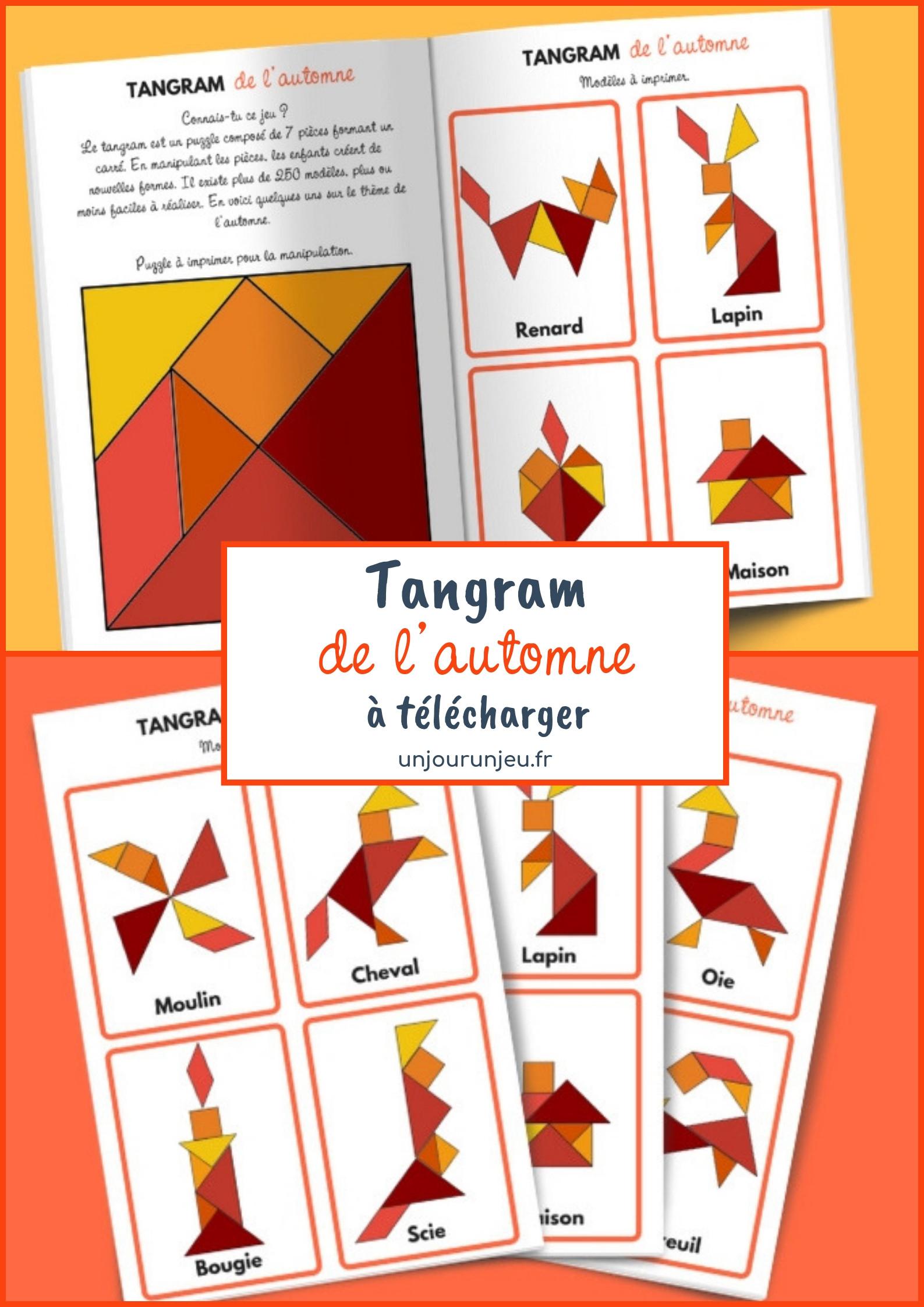 Tangram De L'automne - Modèles À Télécharger Gratuitement destiné Modèle Tangram À Imprimer
