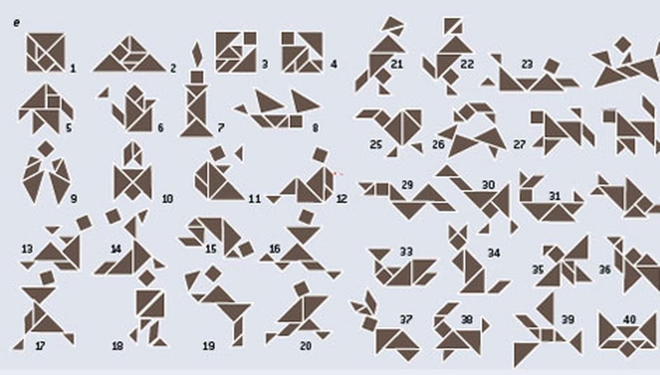Tangram : De Nouvelles Configurations Pour Ce Casse-Tête tout Modèle Tangram À Imprimer