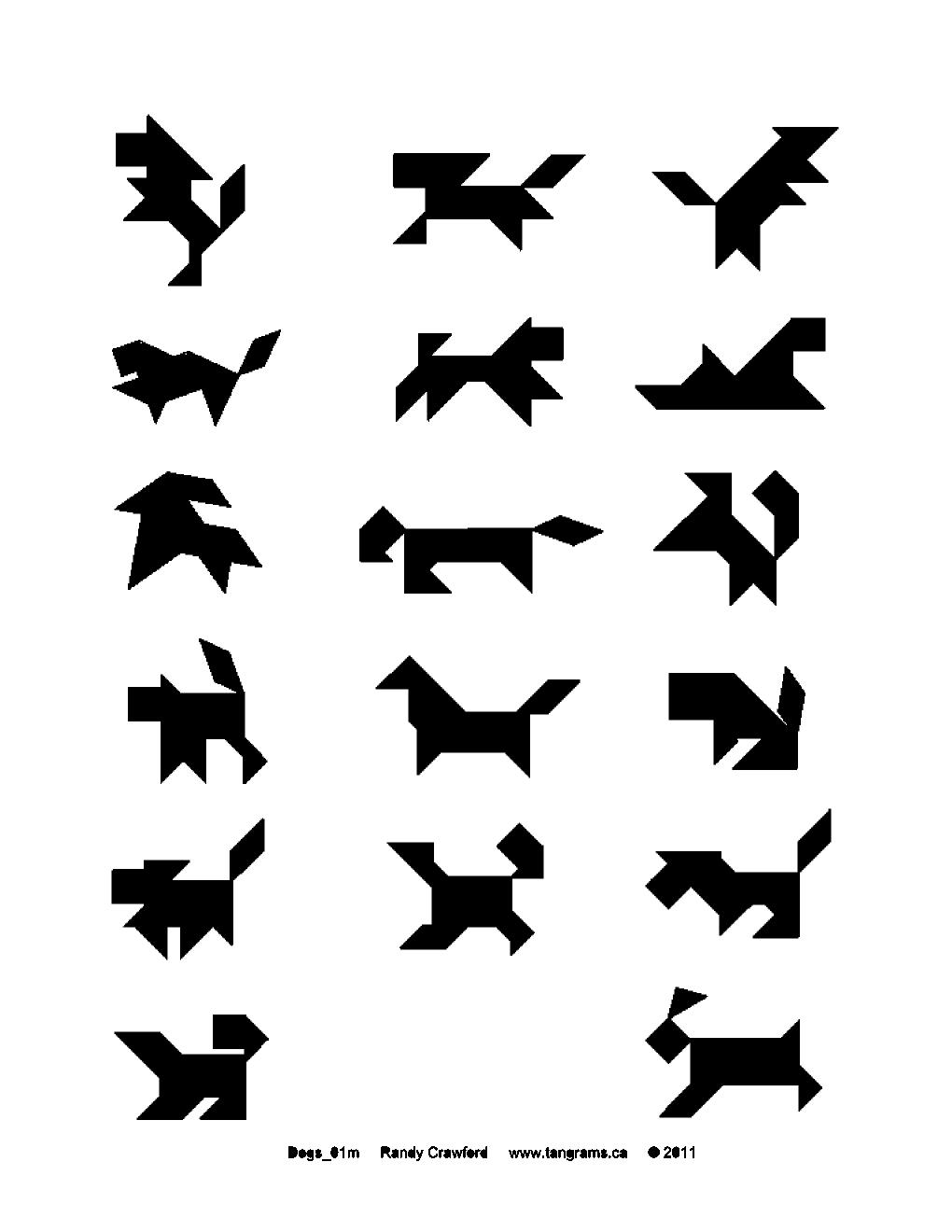 Tangram Dogs | Tangrams.ca - History - Make - Puzzles concernant Tangram Modèles Et Solutions