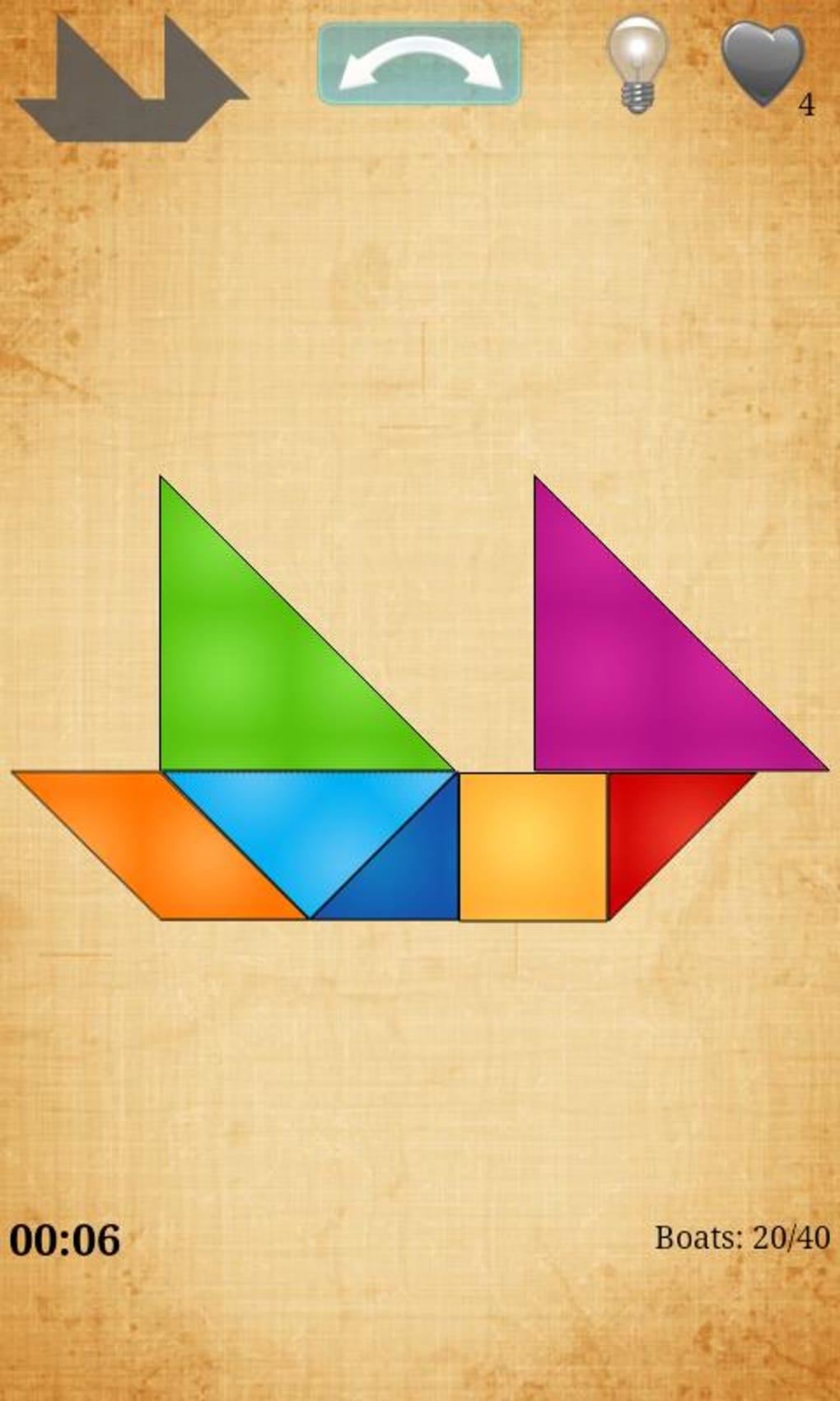 Tangram Hd Pour Android - Télécharger serapportantà Jeux De Tangram Gratuit