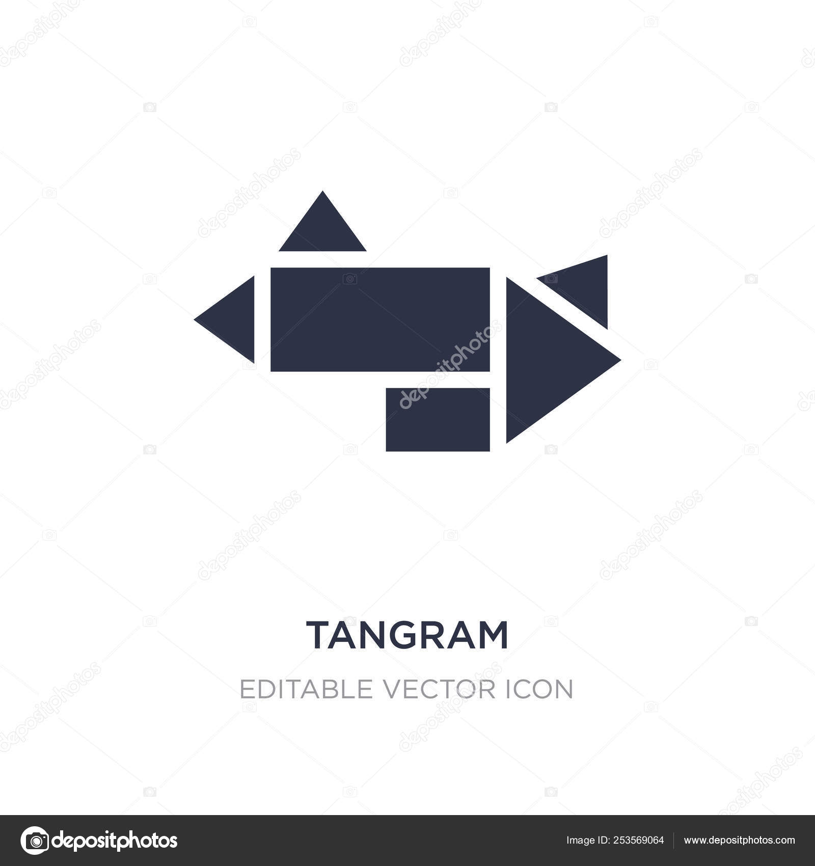 Tangram Icon On White Background. Simple Element tout Tangram Simple