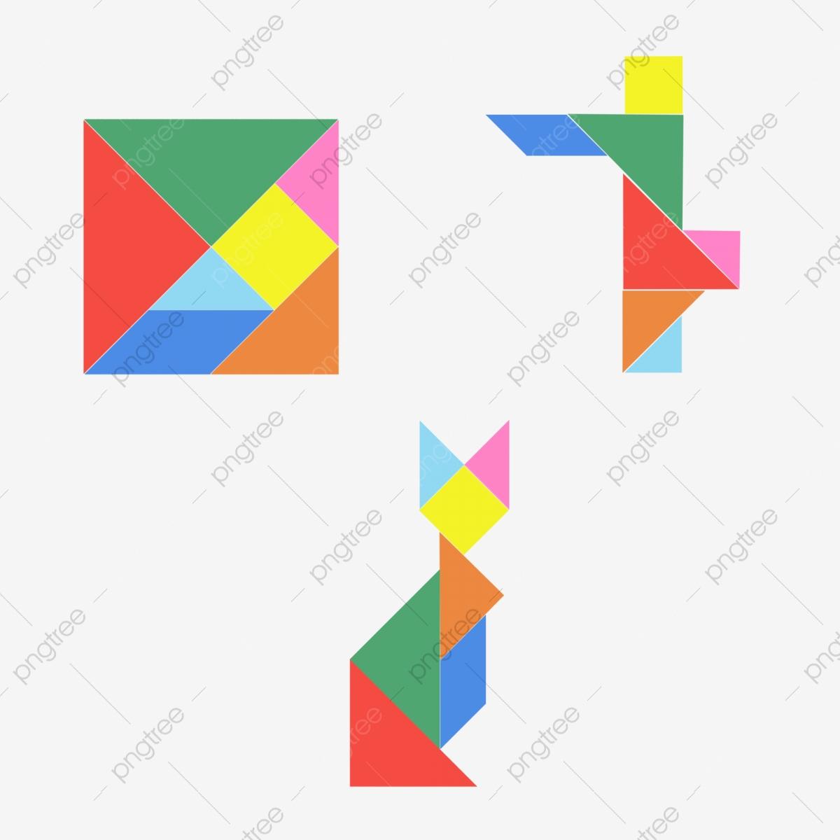 Tangram Jigsaw Puzzle Jigsaw Puzzle Clip Clipart Clipart tout Dessin Tangram