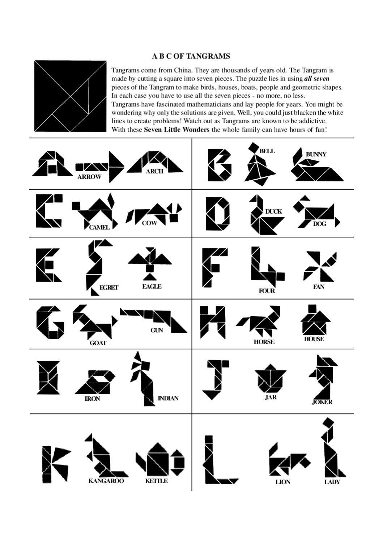 Tangram | Kids Learning Alphabet, Tangram Puzzles, Math Art dedans Tangram En Ligne