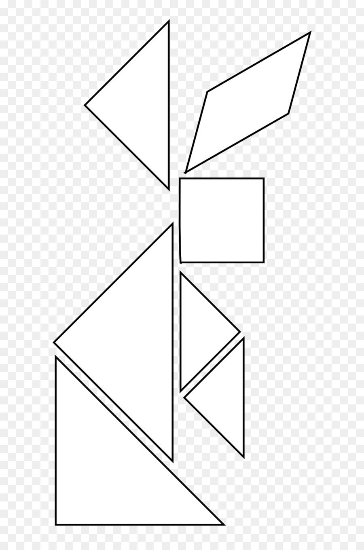 Tangram, Livre De Coloriage, Forme Géométrique Png - Tangram pour Dessin Tangram