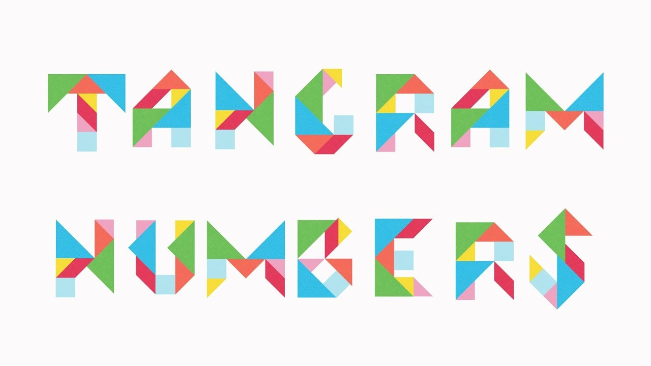 Tangram Numbers For Kids - Learn To Count With Colourful Tangram Puzzle  Pieces concernant Pièces Tangram