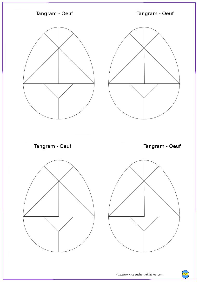 Tangram-Oeuf - Capuchon À L'école intérieur Tangram À Imprimer Pdf