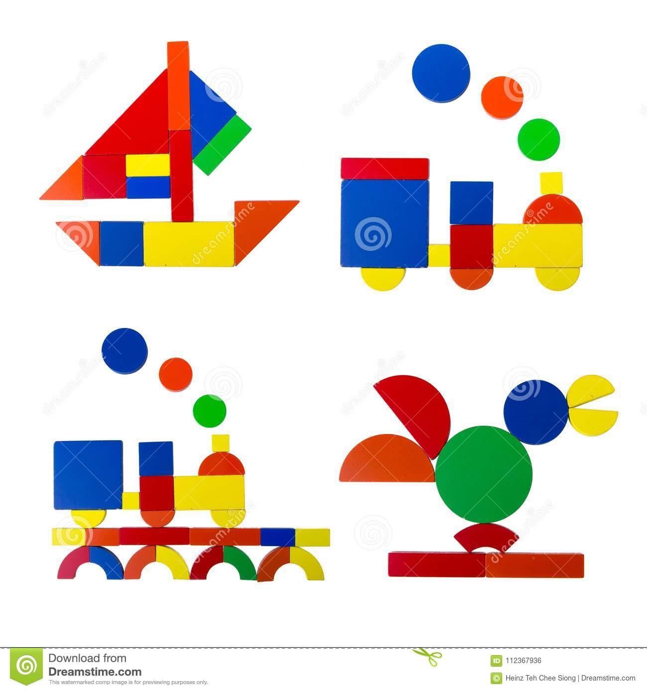 Tangram Photo Stock. Image Du Geometry, Enfant intérieur Tangram Enfant