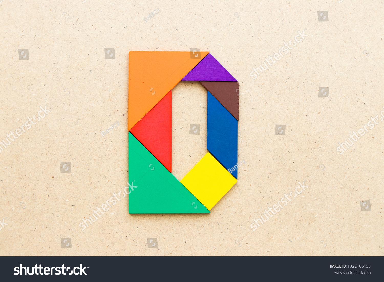 Tangram Puzzle Alphabet Letter D Shape Stock Photo (Edit Now encequiconcerne Tangram Chat
