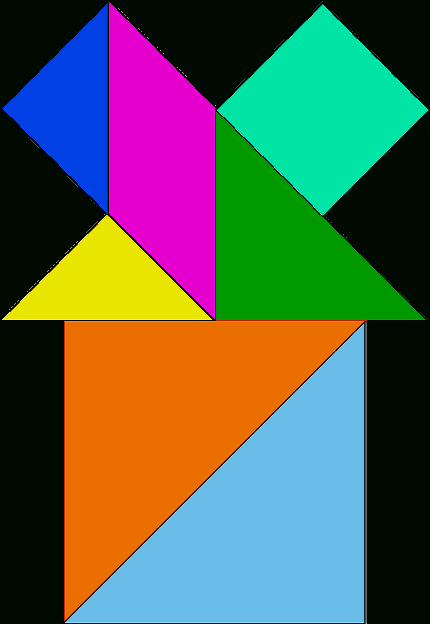 Tangram Puzzle Chinese - Free Vector Graphic On Pixabay encequiconcerne Pièces Tangram