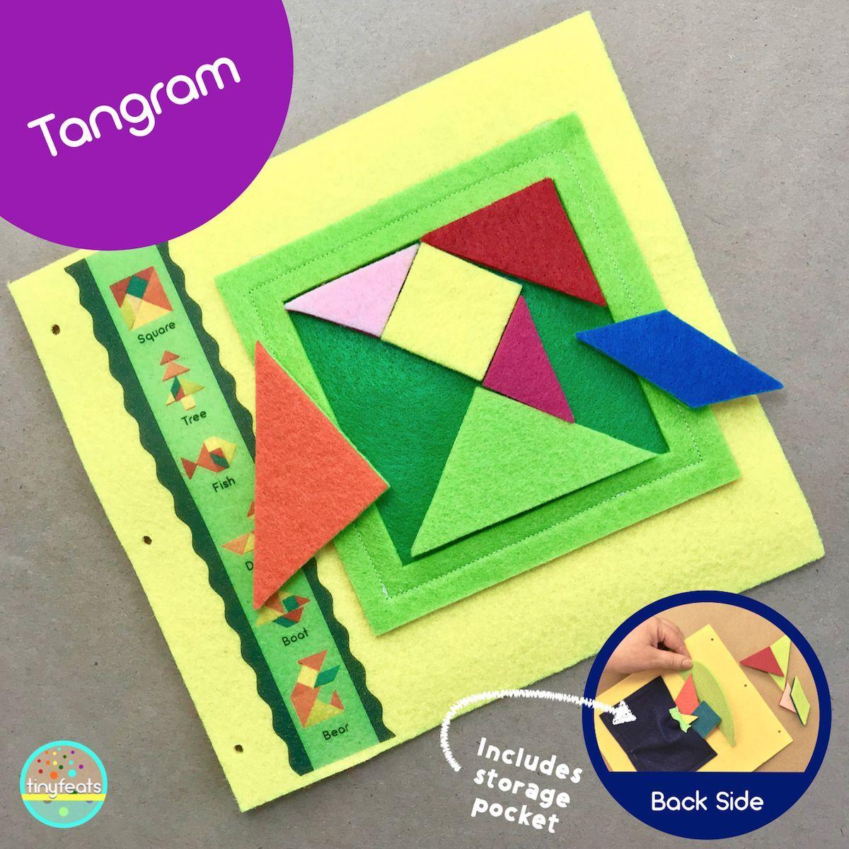 Tangram Quiet Book Page | Livres En Tissu, Activite Enfant à Tangram Enfant