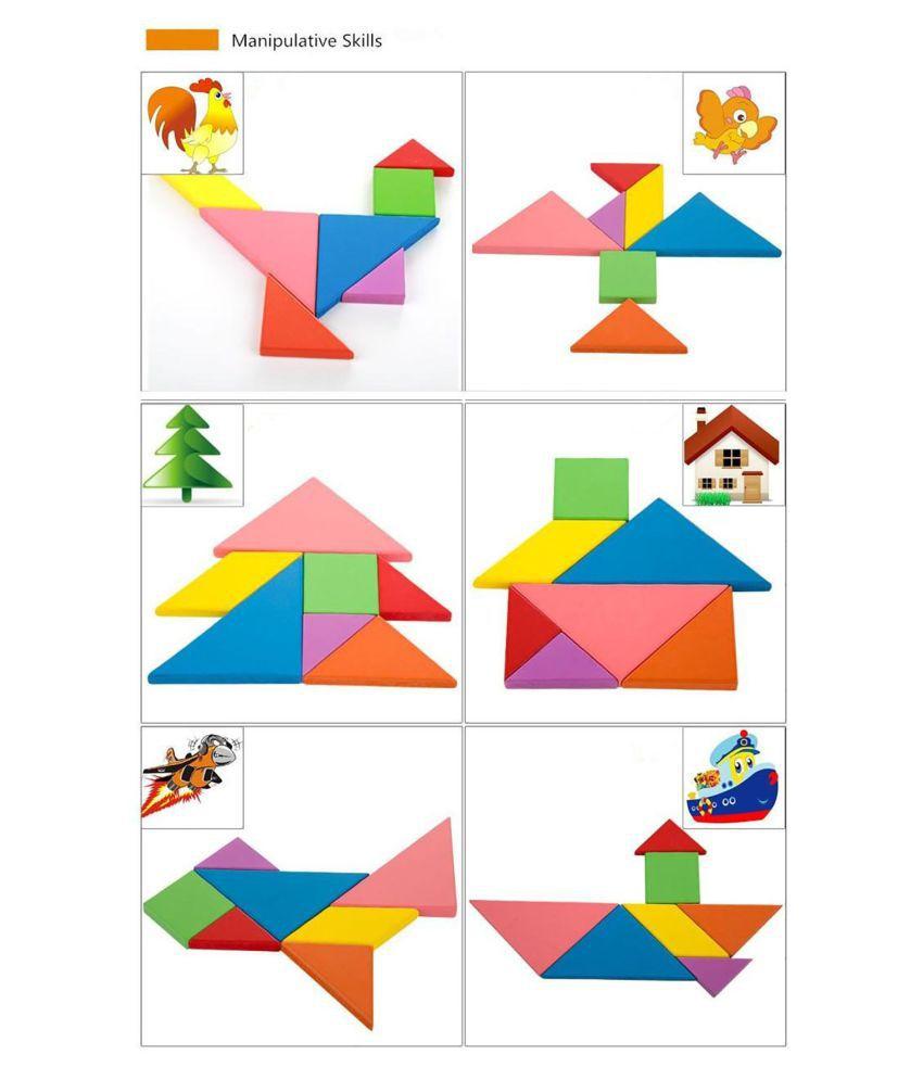 Tangram Seven Pieces Toys & Hobbies Toys & Hobbies concernant Pièces Tangram