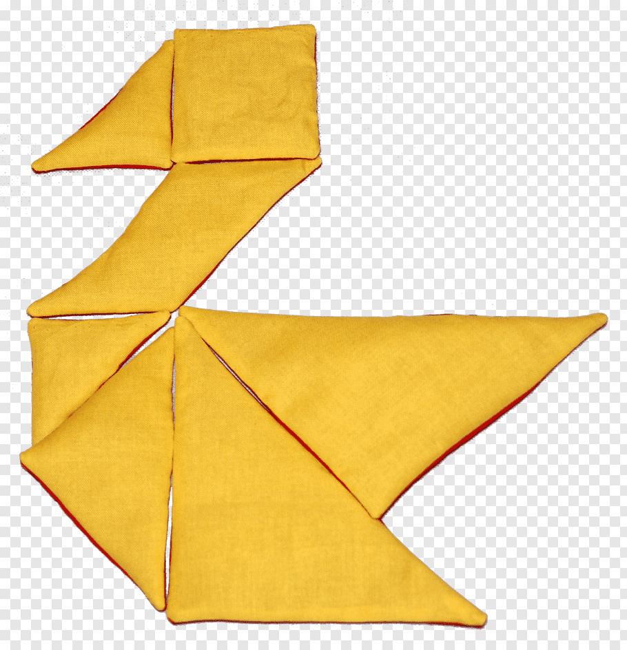 Tangram Textile Puzzle Tutorial, Triangular Pieces Free Png avec Pièces Tangram