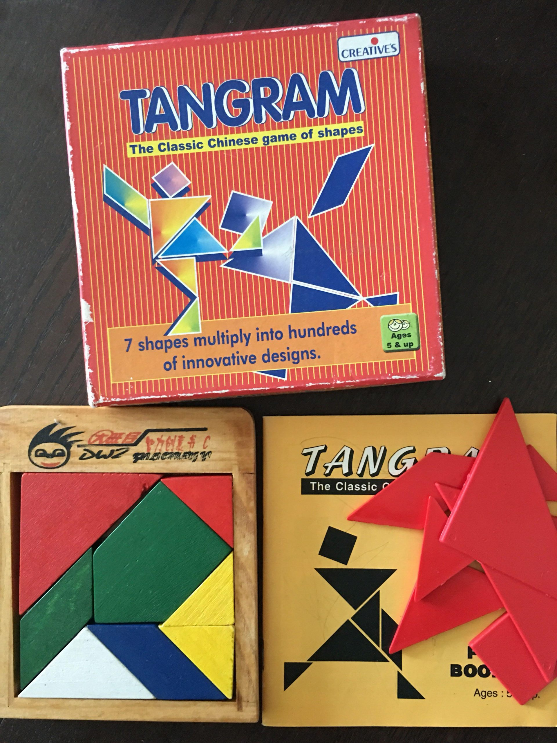Tangram, Toys & Games, Others On Carousell tout Tangram Chat