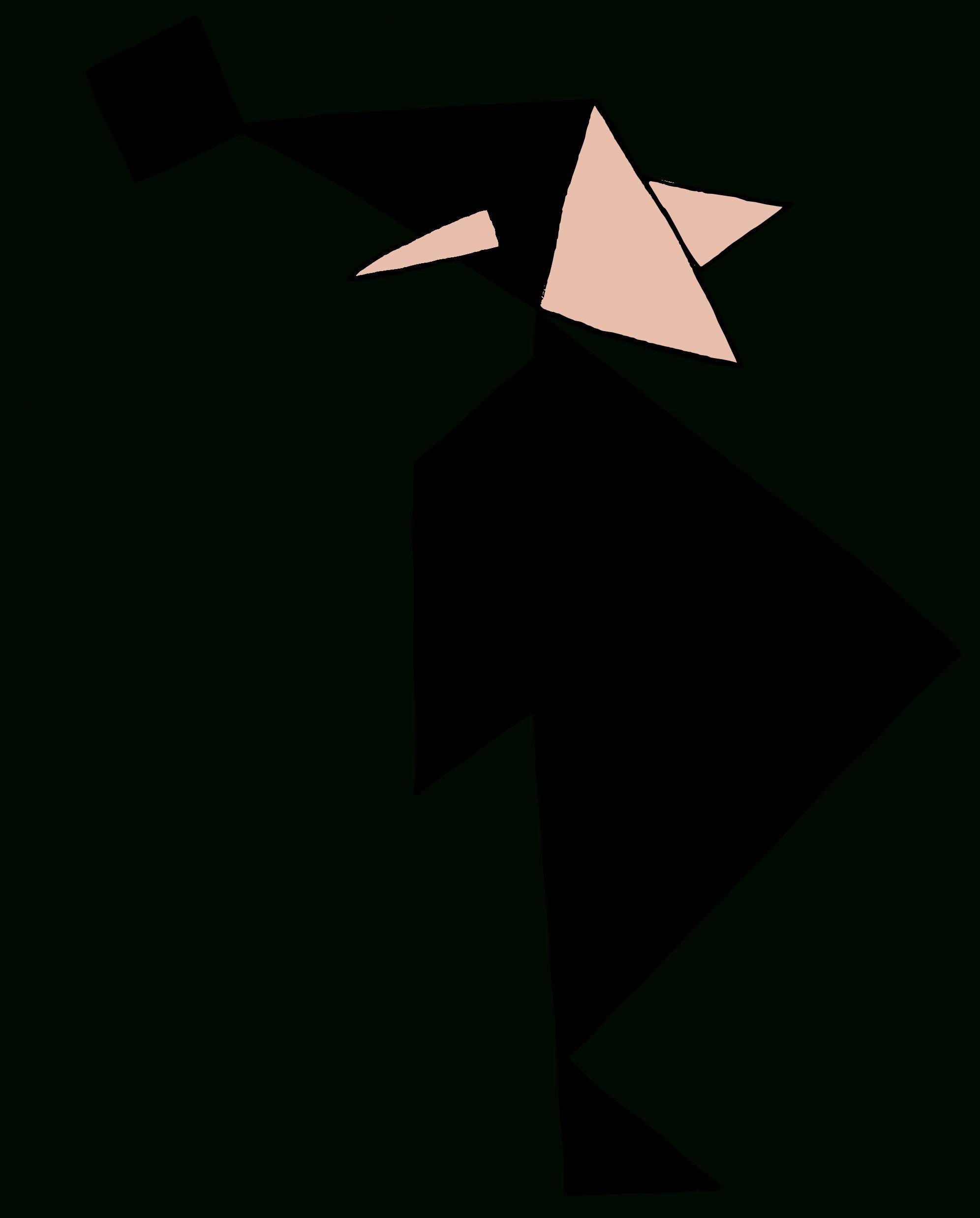 Tangram - Trois Silhouettes De Personnages ~ La Classe Des avec Tangram À Découper