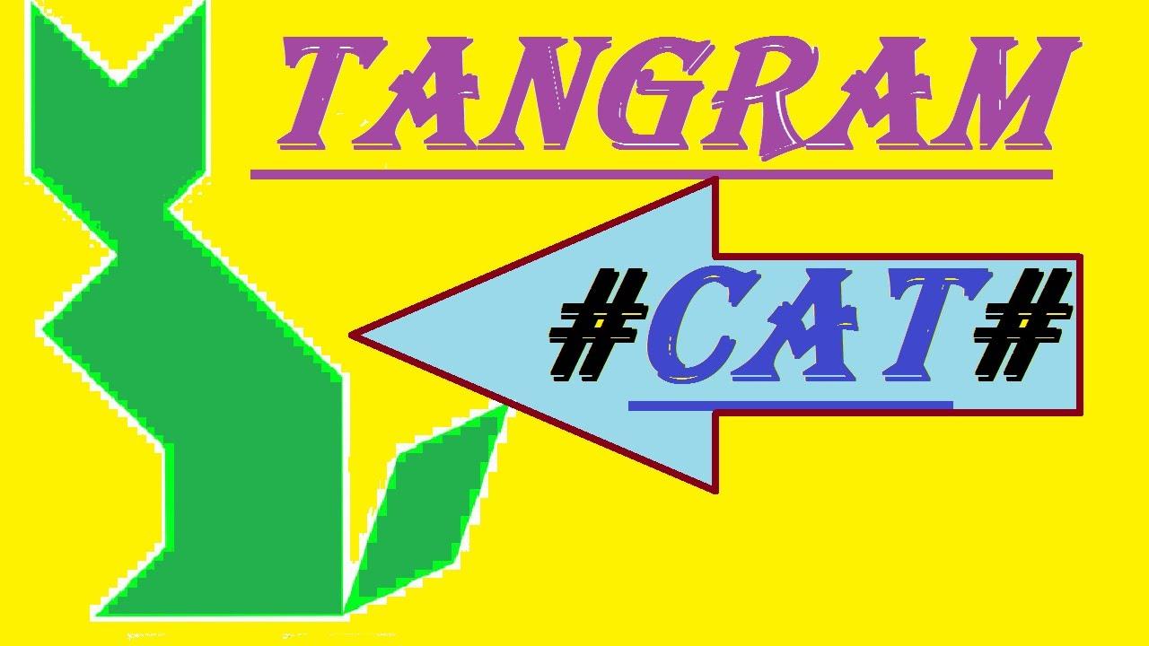Tangram#cat# tout Tangram Chat