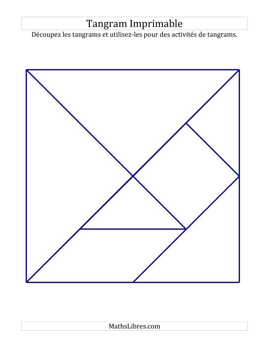 Tangrams Noir Et Blanc Avec Lignes Épaisses (A) tout Tangram À Imprimer Pdf