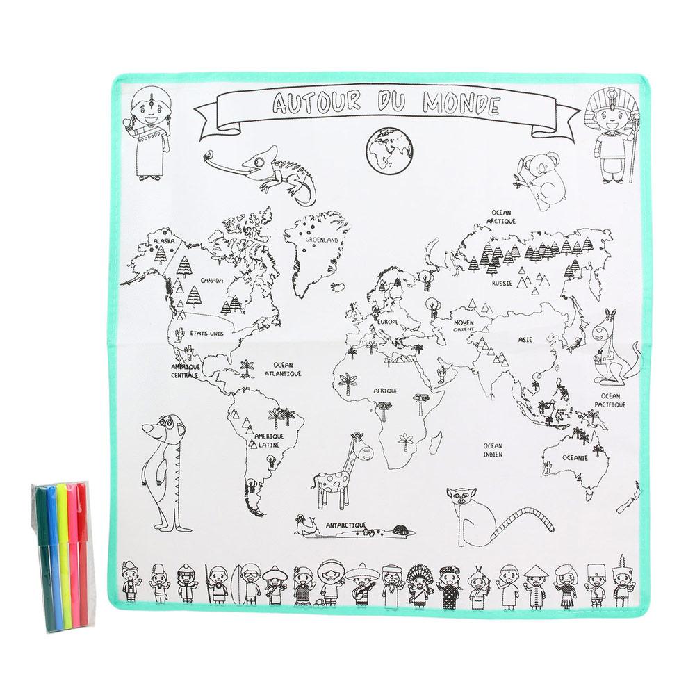 Tapis Carte Du Monde À Colorier concernant Tous Les Coloriages Du Monde