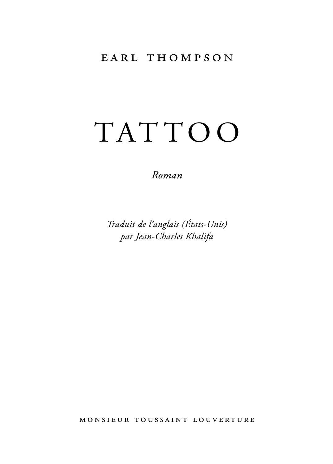 Tattoo D'earl Thompson Publié Par Monsieur Toussaint destiné Ivre Mots Fleches