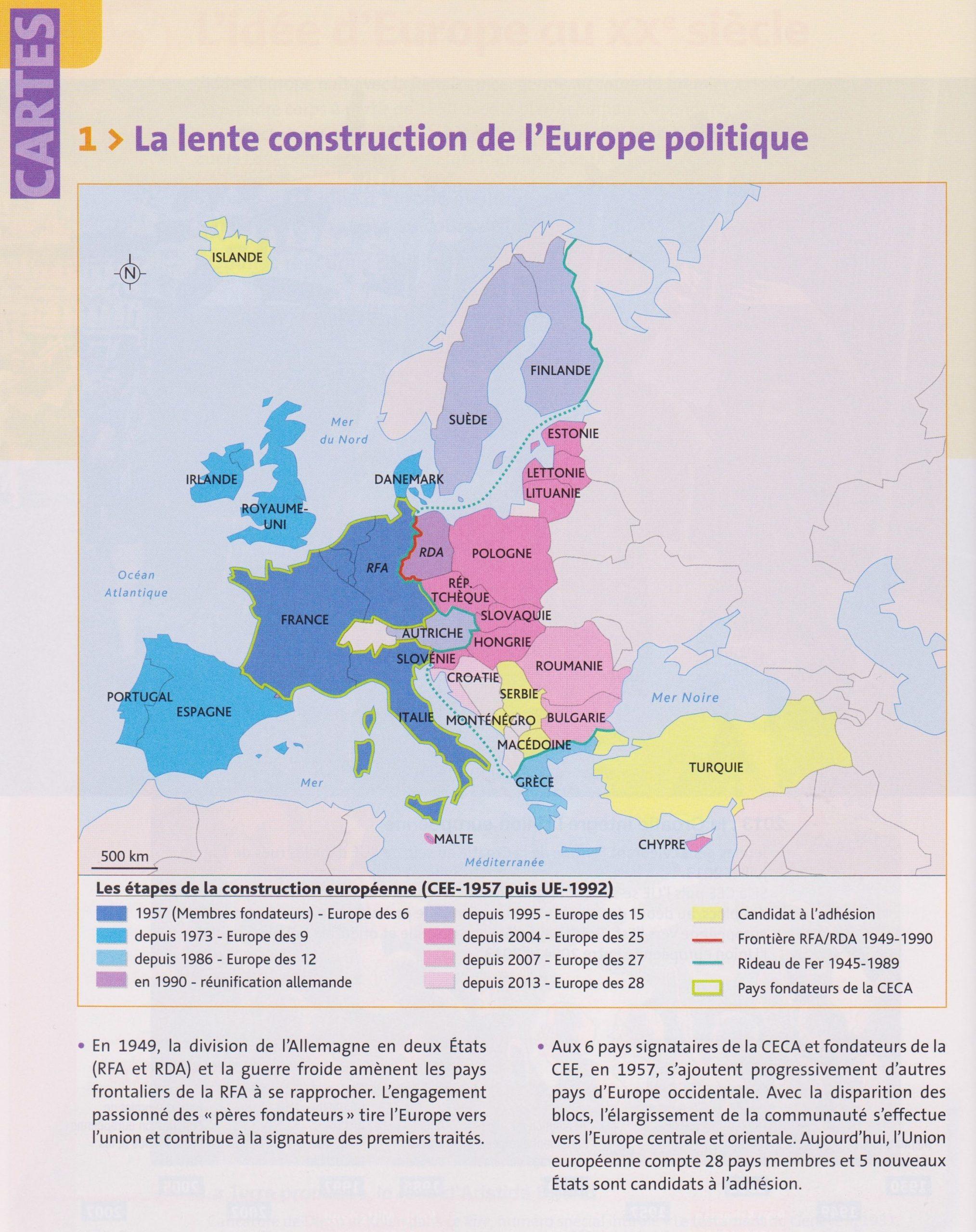 Tbacpro-H2 : La Lente Construction De L'europe Politique encequiconcerne Carte Construction Européenne