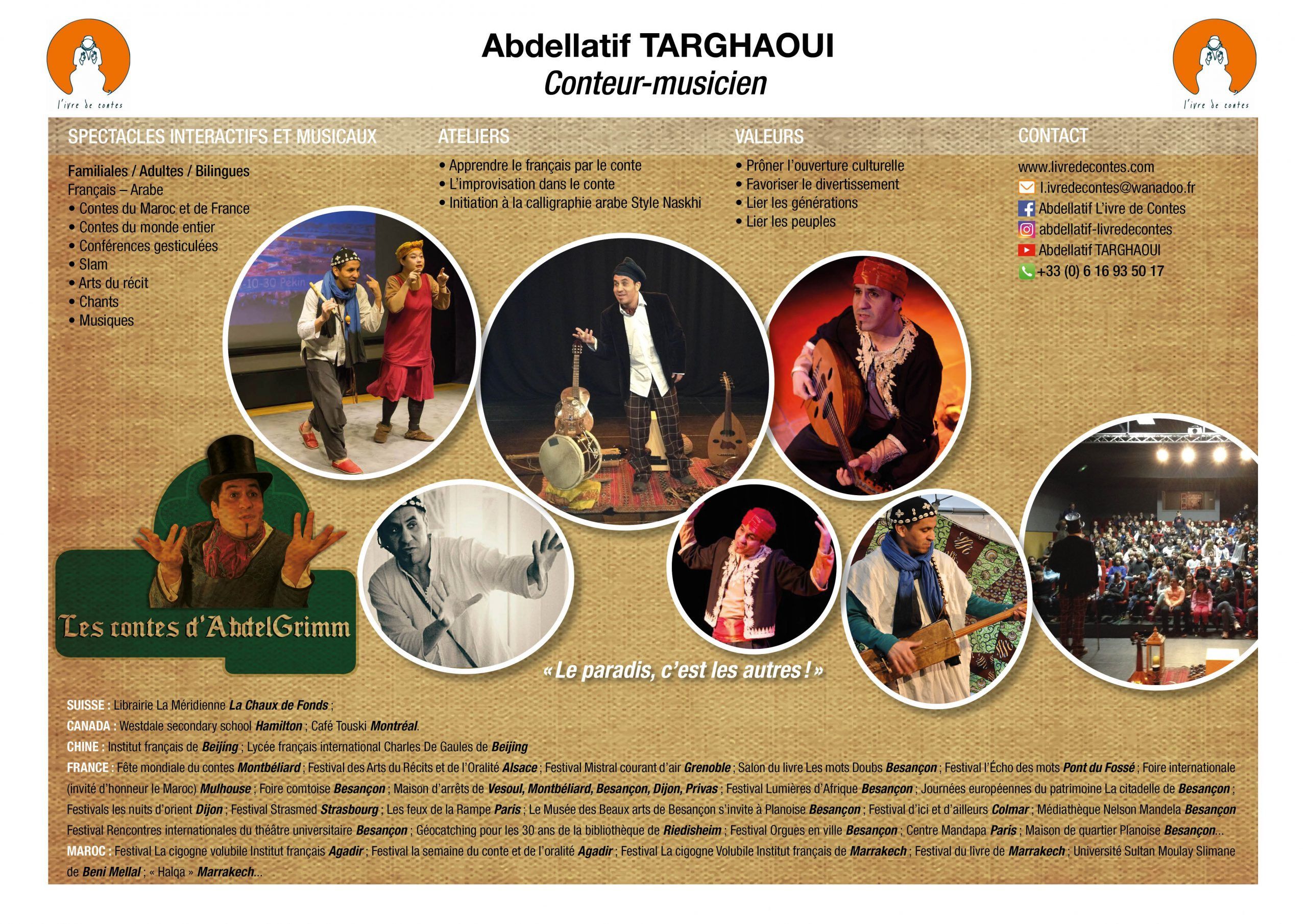 Tchookar :: Abdellatif Targhaoui pour Ivre Mots Fleches
