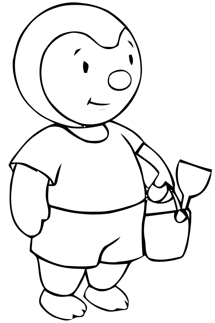 Tchoupi And Doudou #27 (Cartoons) – Printable Coloring Pages pour Coloriage De Tchoupi Et Doudou