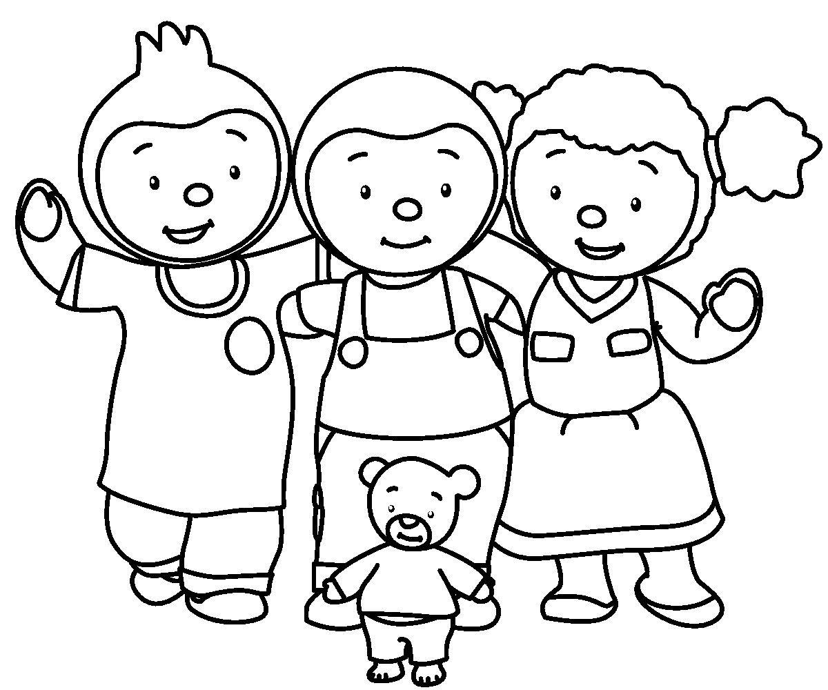 T'choupi Et Doudou #2 (Dessins Animés) – Coloriages À Imprimer concernant Creche A Imprimer