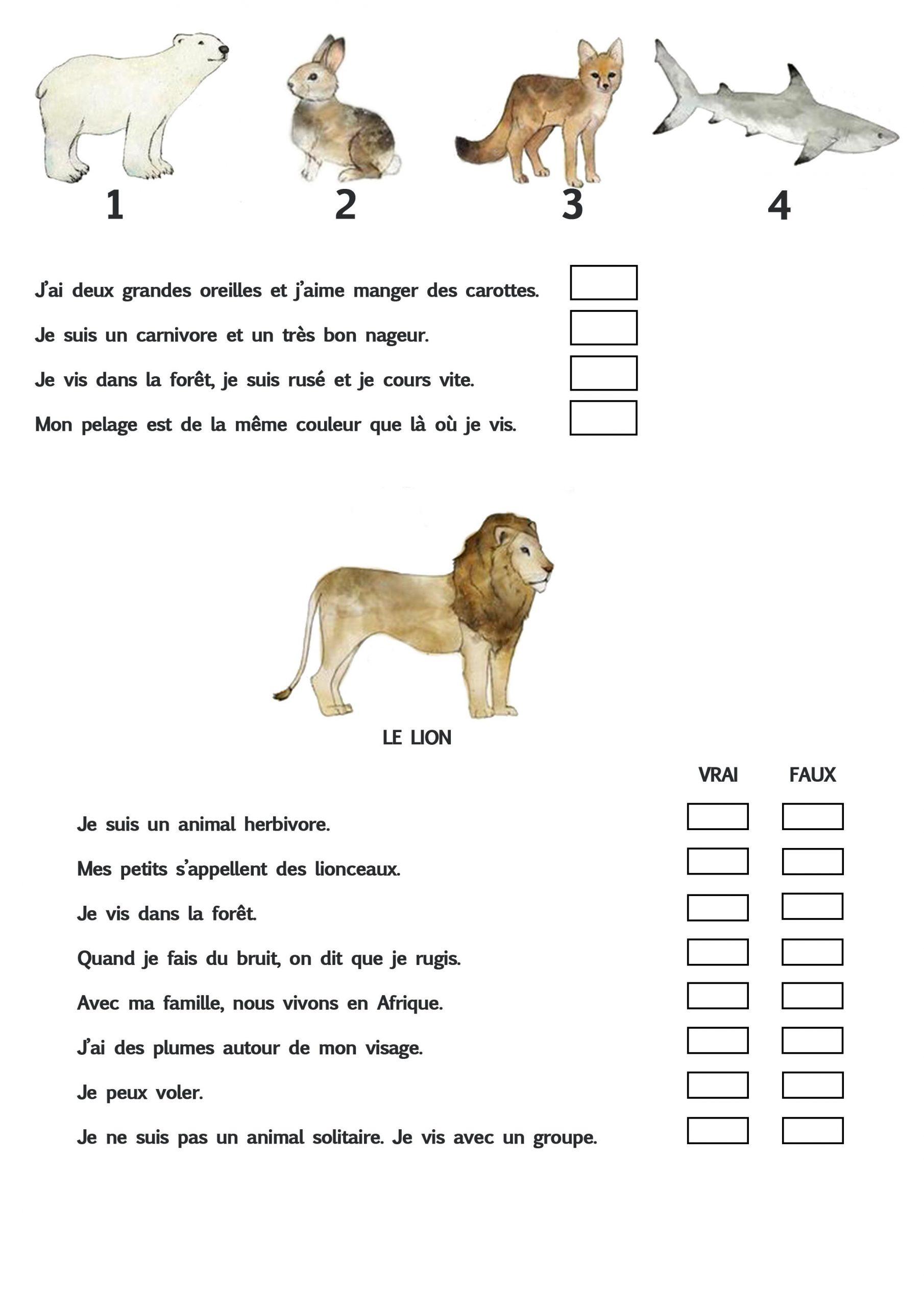 Téléchargements | Les Couleurs En Français, Animaux Et Tout pour Apprendre Le Nom Des Animaux