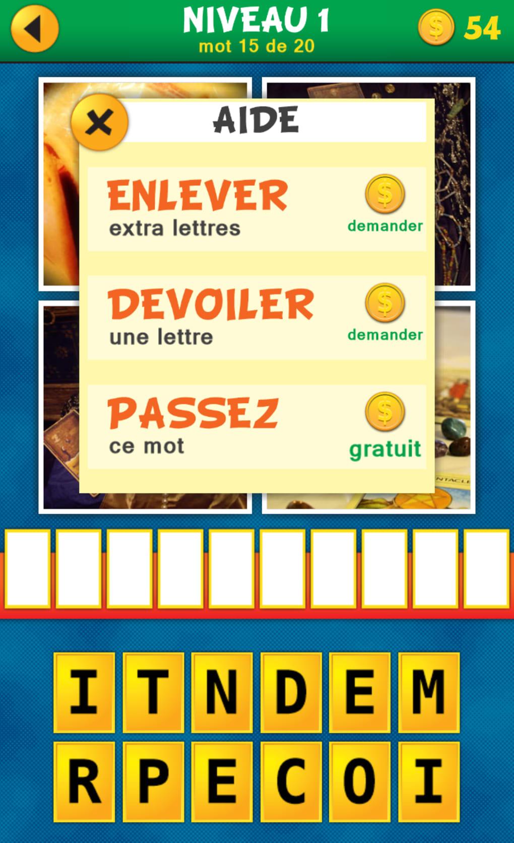 Telecharger 4 Mots 1 Image Android encequiconcerne Jeux Anagramme Gratuit A Telecharger