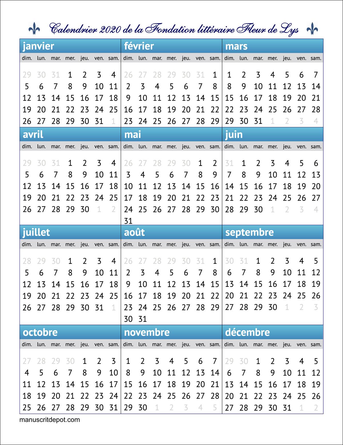 Télécharger Et Imprimer Notre Calendrier 2020 | Appui-Livres intérieur Mots Coupés À Imprimer